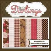"Little Darlings - Chocolate Covered Cherry - Paper Pack 6 x 6"" (24 pack)"